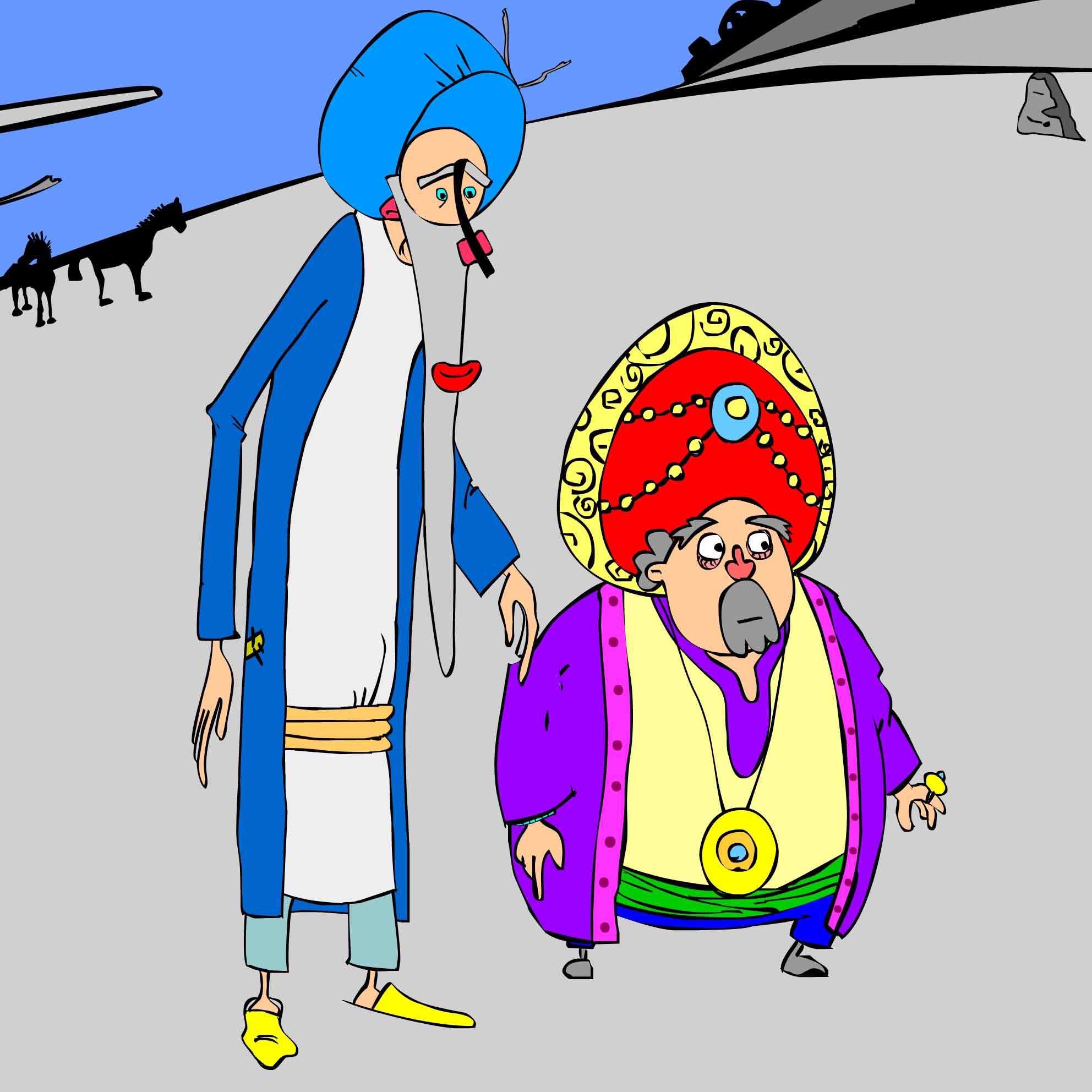 داستان مصور بهلول وخرقه و نان جو، سرکه