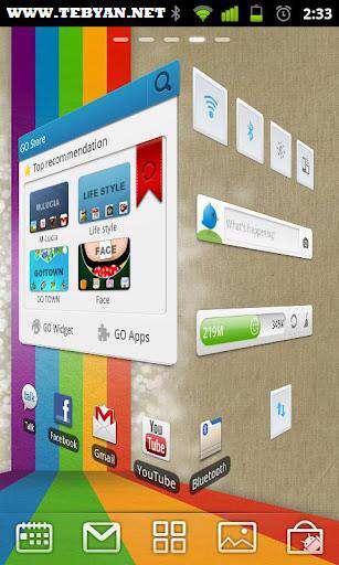 متحول كردن صفحه گوشی اندروید، GO Launcher EX 2.80 Final
