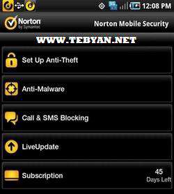 بسته امنیتی نورتون نسخه اندروید، Norton Mobile Security 1.50.154