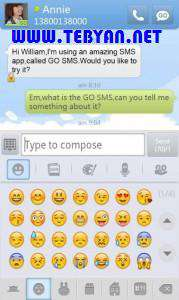 ارسال و مدیریت پیامک نسخه اندروید، GO SMS Pro 4.35