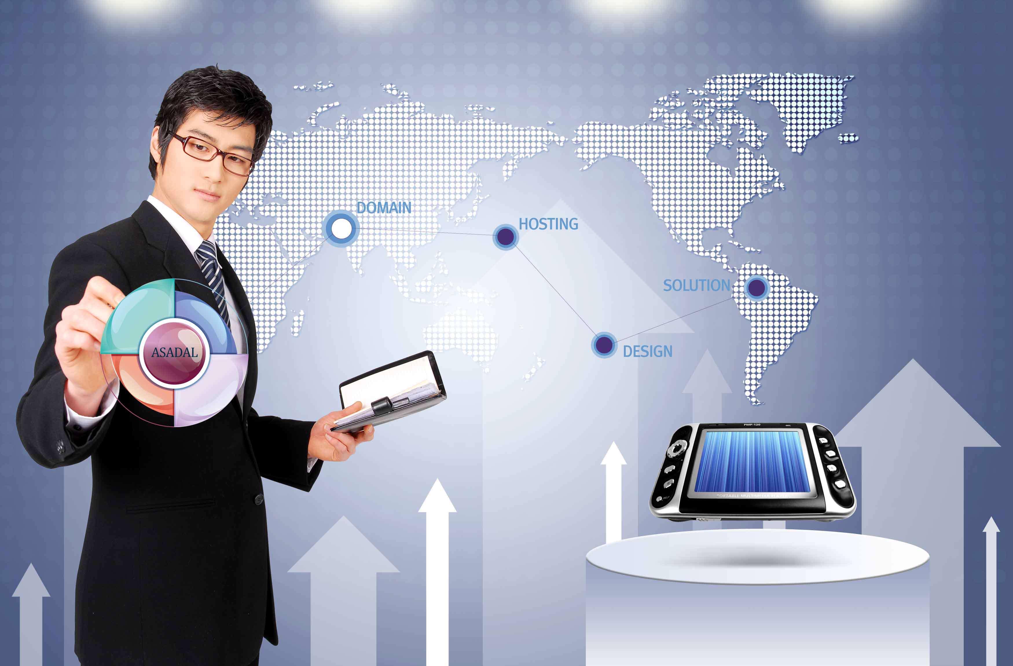 تصاویر لایه باز تبلیغاتی، تجاری و دیجیتال آبی و خاکستری