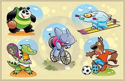 10 کلیپ از حیوانات ورزشکار