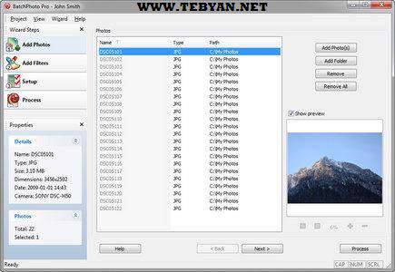 مدیریت تصاویر، BatchPhoto Pro 3.1.0