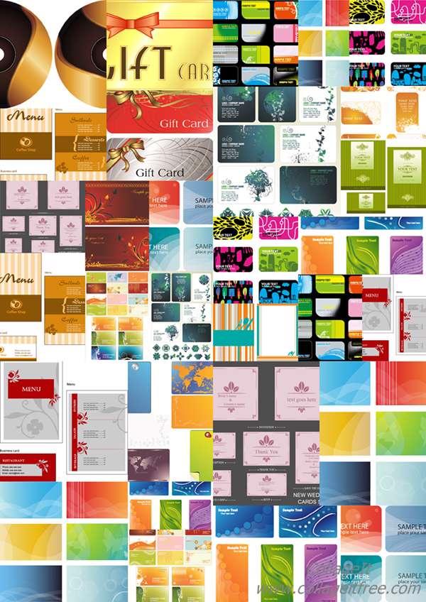مجموعه تصاویر وکتوری Card mix
