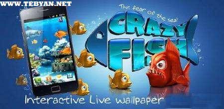 والپیپر زنده و متحرک Crazy Fish نسخه اندروید