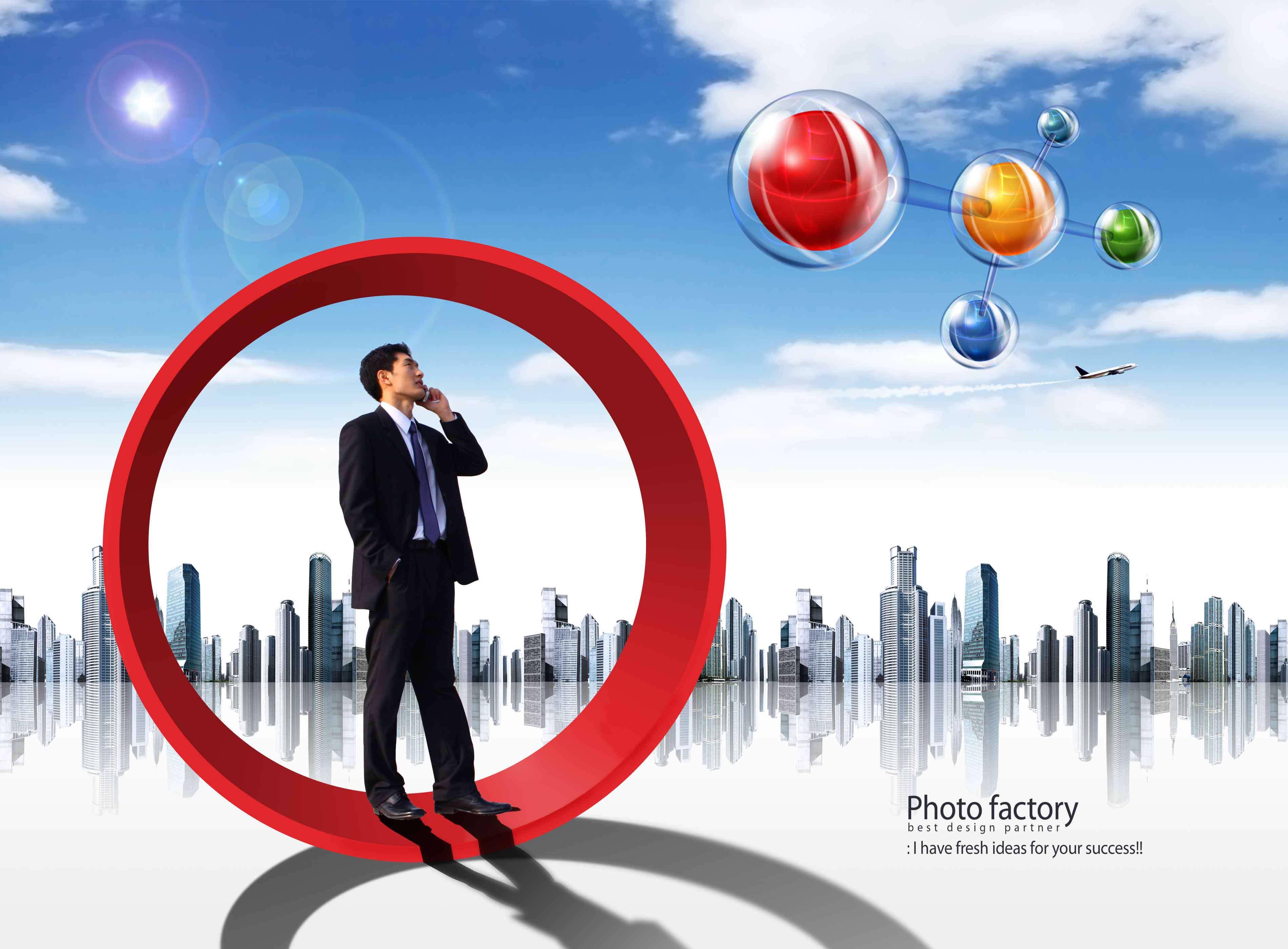 تصاویر لایه باز تبلیغاتی، تجاری و دیجیتال آبی و سفید
