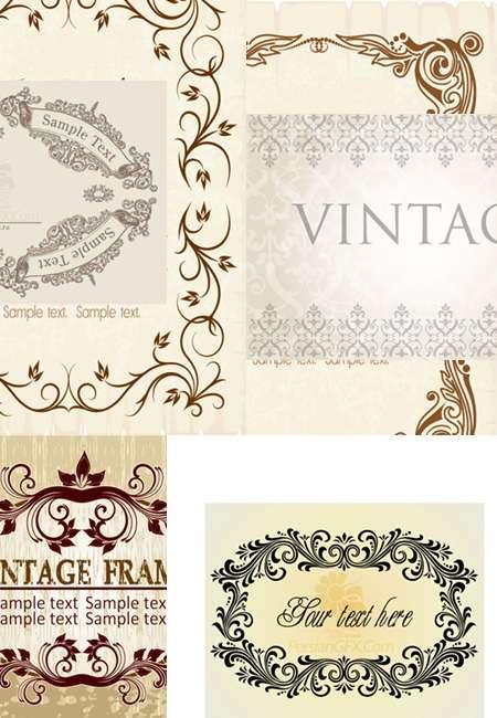 مجموعه تصاویر وکتوری Vintage