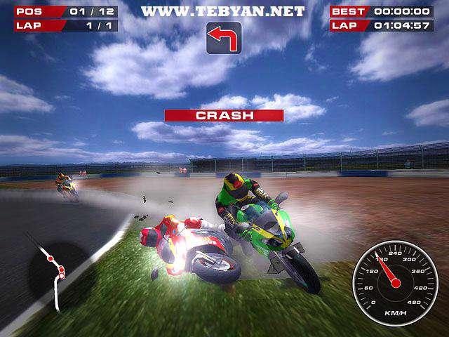بازی زیبا و مهیج موتور سواری، Superbike Racers