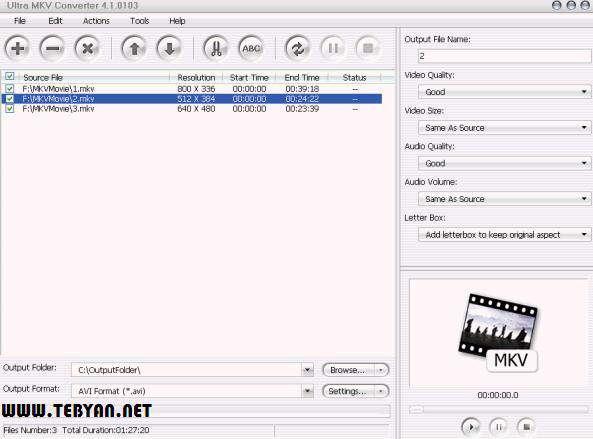 مبدل MKV به سایر فرمت ها، Aone Ultra MKV Converter 4.3.0309
