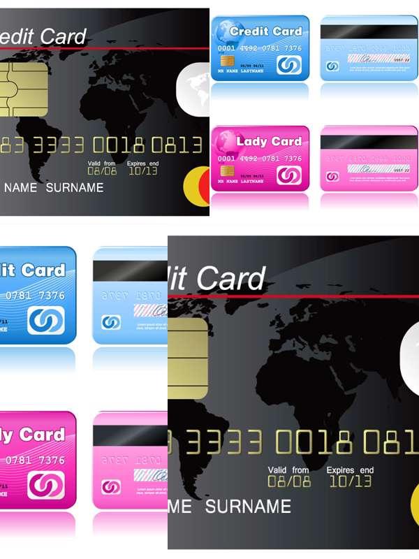 مجموعه تصاویر وکتوری Cash Cards Vectors
