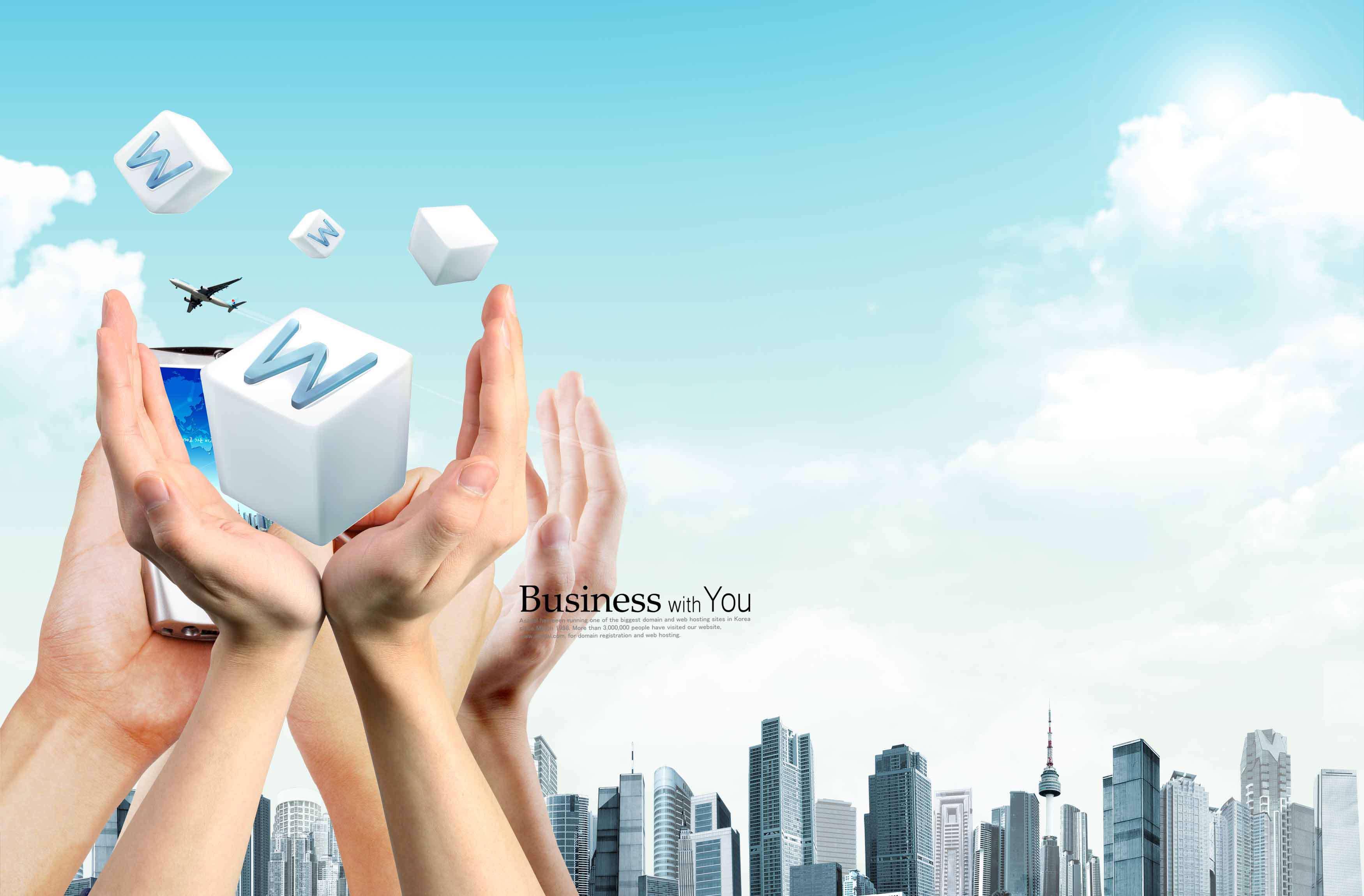 تصاویر لایه باز تبلیغاتی مشارکت در تجارت