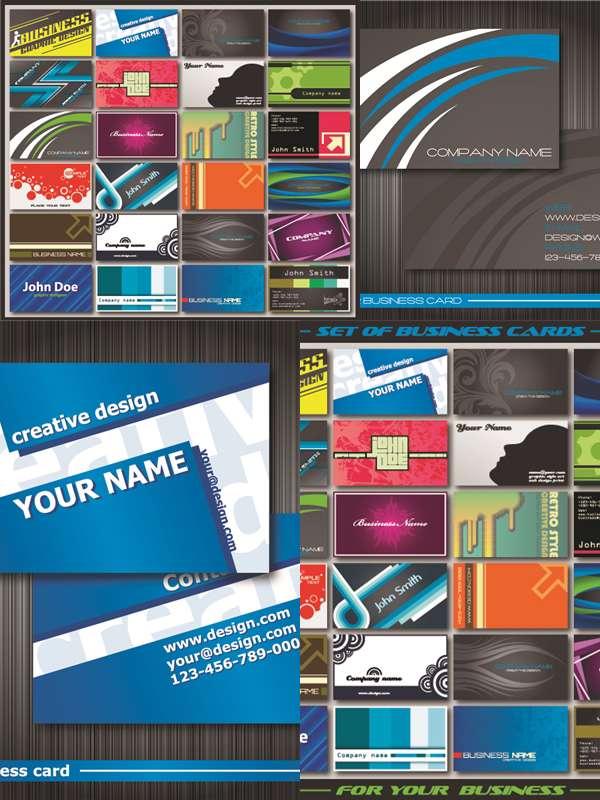 مجموعه تصاویر وکتوری Stock Vector - Business Cards Collection