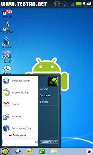 لانچر زیبای ویندوز 7 نسخه اندروید، Windows 7 for Android 1.1