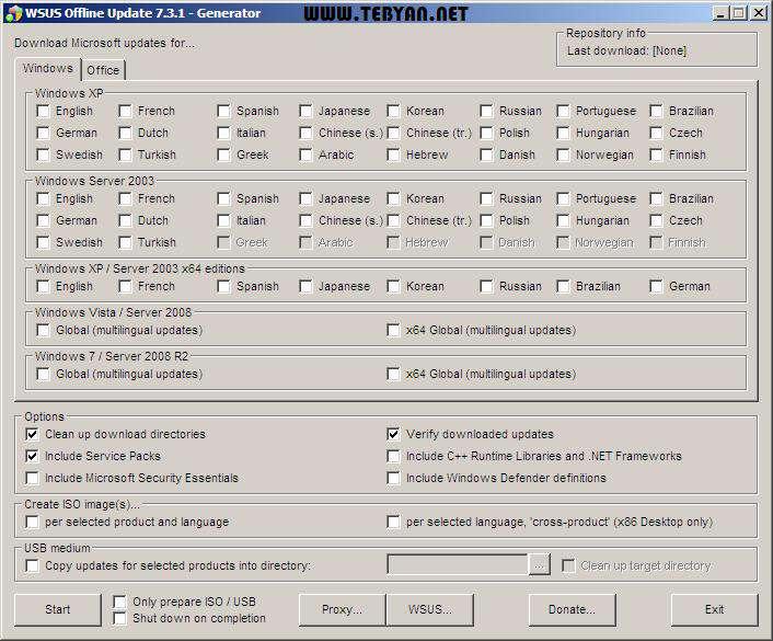 دانلودر آپدیت های آفلاین ویندوز و آفیس، WSUS Offline Update 7.3.1