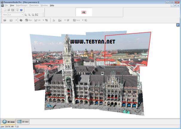 ساخت تصاویر پانوراما، PanoramaStudio Pro 2.3.1