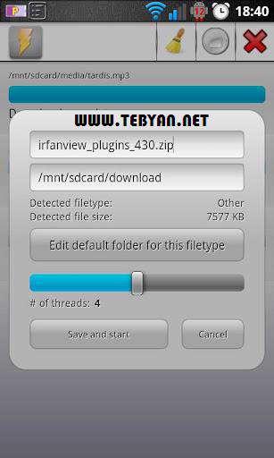 افزایش سرعت دانلود در اندروید، FasterDownloads full v1.7