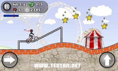 بازی حرکات نمایشی با دوچرخه نسخه اندروید، StickMan Stunts v 1.0