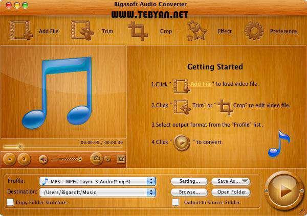 مبدل فایل های صوتی، Bigasoft Audio Converter 3.6.20.4501
