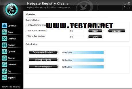 پاکسازی رجیستری، NETGATE Registry Cleaner 4.0.195.0