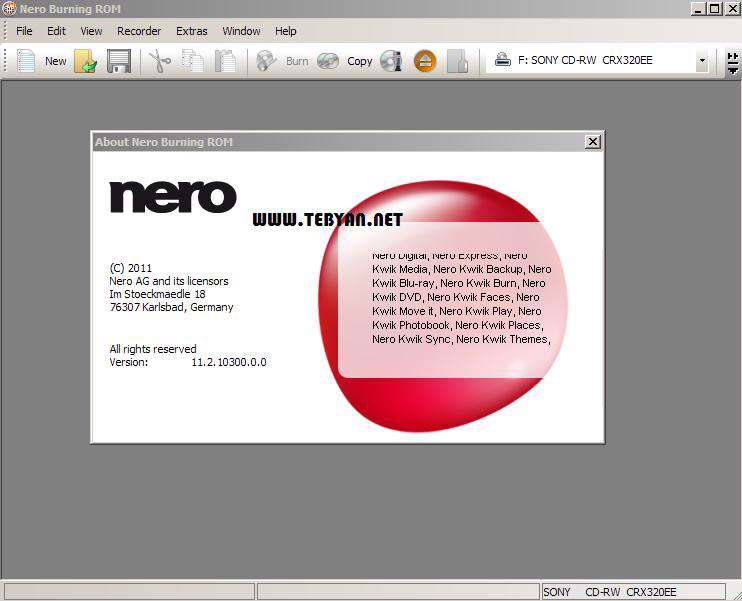 ابزار قدرتمند رایت لوح فشرده، Nero Micro 12.0.02000
