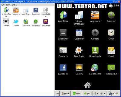 اجرای برنامه های اندروید در رایانه، YouWave for Android 2.2.3