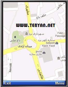 نقشه راهنمای شهر یزد نسخه جاوا