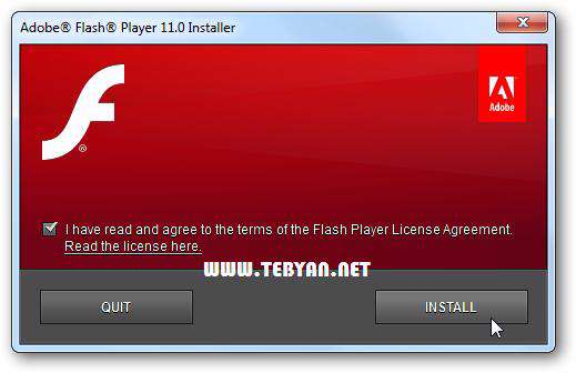 نمایش فایل های فلش، Adobe Flash Player 11.3.300.257 Final All In One