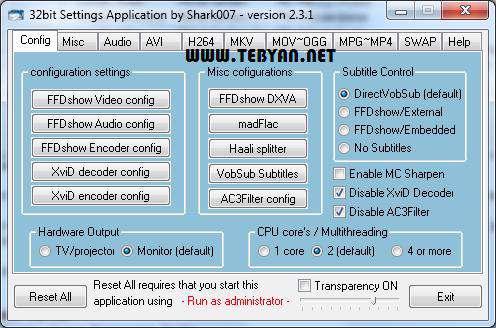 کدک ویندوز 7، Win7Codecs 3.8.5