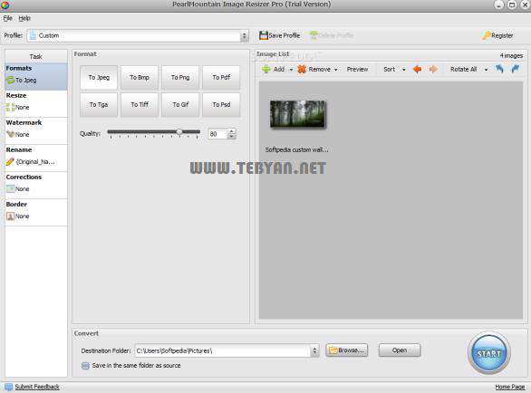 تغییر اندازه تصاویر با بهترین كیفیت، AnyPic Image Resizer Pro 1.4.2 Build 3019