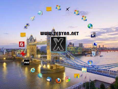 مرتب سازی آیکن های دسکتاپ، XUS Desktop Professional Edition 2.2.0