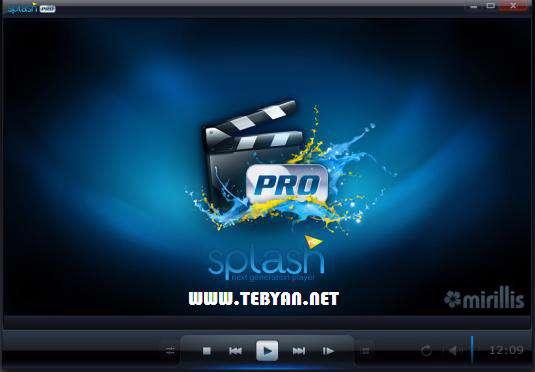 پخش فیلم های ویدیویی، Mirillis Splash PRO EX Player 1.12.2