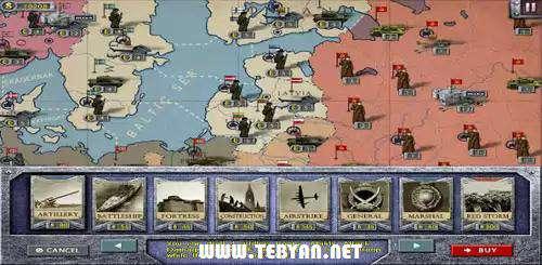 بازی استراتژیكی جنگ در اروپا نسخه اندروید، European War 2 v1.1