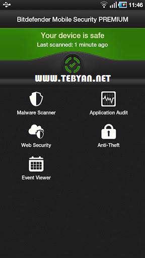 بسته امنیتی موبایل بیت دیفندر نسخه اندروید، Bitdefender Mobile Security 1.1.711