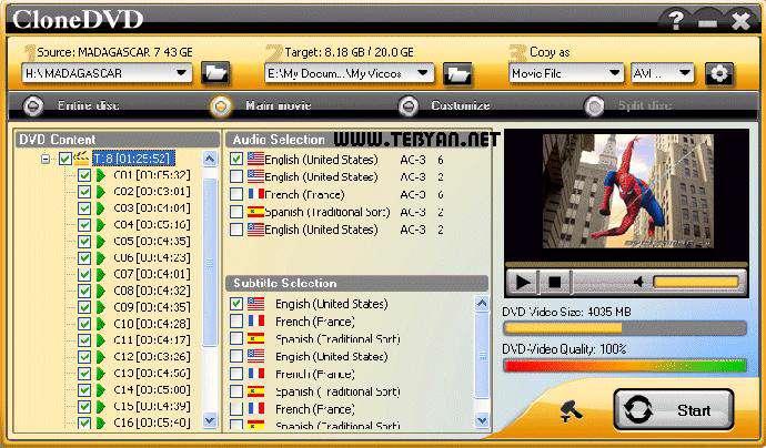 ابزار رایت و کپی دی وی دی، DVD X Studios CloneDVD 6.0.3.5