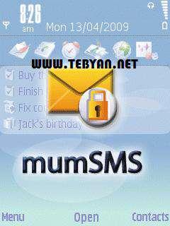 رمزگذاری روی صندوق پیام نسخه سیمبیان، Mumcode Software MumSMS 5.11.6 build 1215