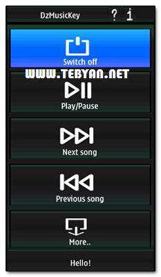 کنترل موزیک در حالت قفل نسخه سیمبیان، DzSoft DzMusicKey v2.00