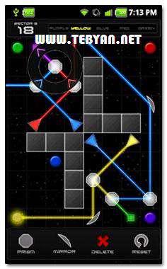 بازی زیبا و فکری انعکاس نور نسخه اندروید، Refraction full v1.9.0