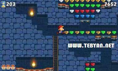 بازی زیبای معدنچی به دنبال جواهرات نسخه اندروید، Marv The Miner 2