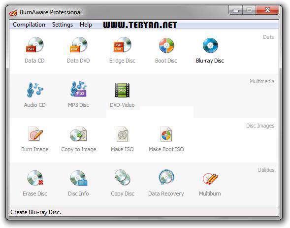 ابزار رایت سبک و قوی، BurnAware Professional 4.9