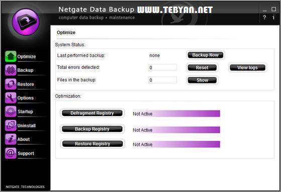 پشتیبان گیری از اطلاعات، NETGATE Data Backup 2.0.805.0