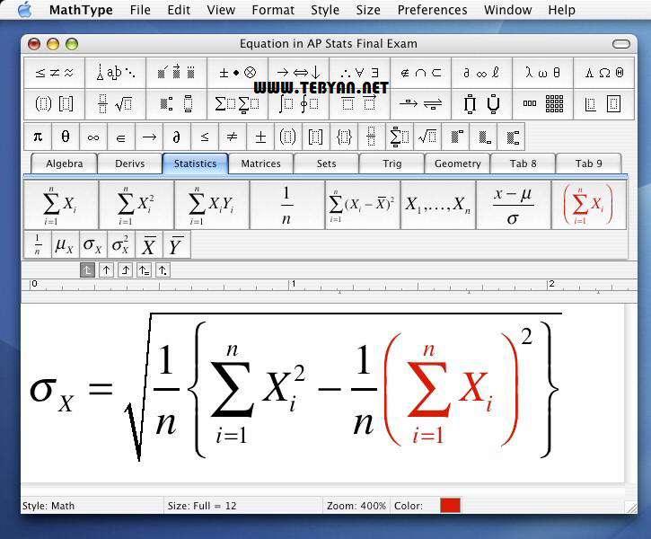 فرمول نویسی، MathType 6.8