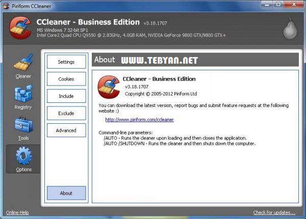 بهینه ساز رایانه + پرتابل، CCleaner Business Edition 3.22.1800