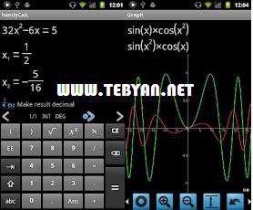 ماشین حساب مهندسی قدرتمند نسخه اندروید، handyCalc Calculator v0.53