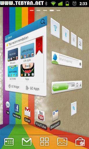 متحول كردن صفحه گوشی اندروید، GO Launcher EX 3.03 Final