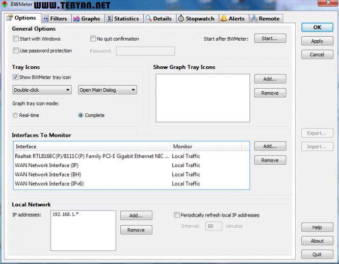 محاسبه و کنترل پهنای باند اینترنت و شبکه، BWMeter 6.3.0