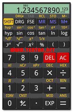 ماشین حساب حرفه ای نسخه سیمبیان، Frog Scientific Calculator v1.0