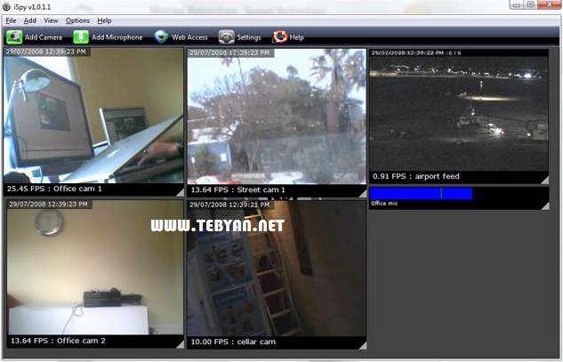 تبدیل وب کم به دوربین مدار بسته، iSpy 4.2.6.0