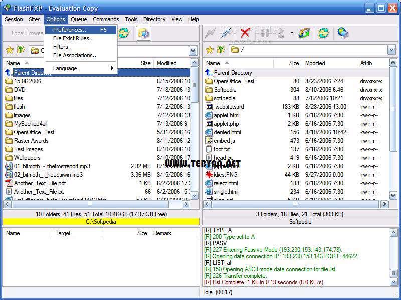 مدیریت و انتقال اطلاعات بین رایانه و سرور + پرتابل، FlashFXP 4.2.4 Build 1782 Final
