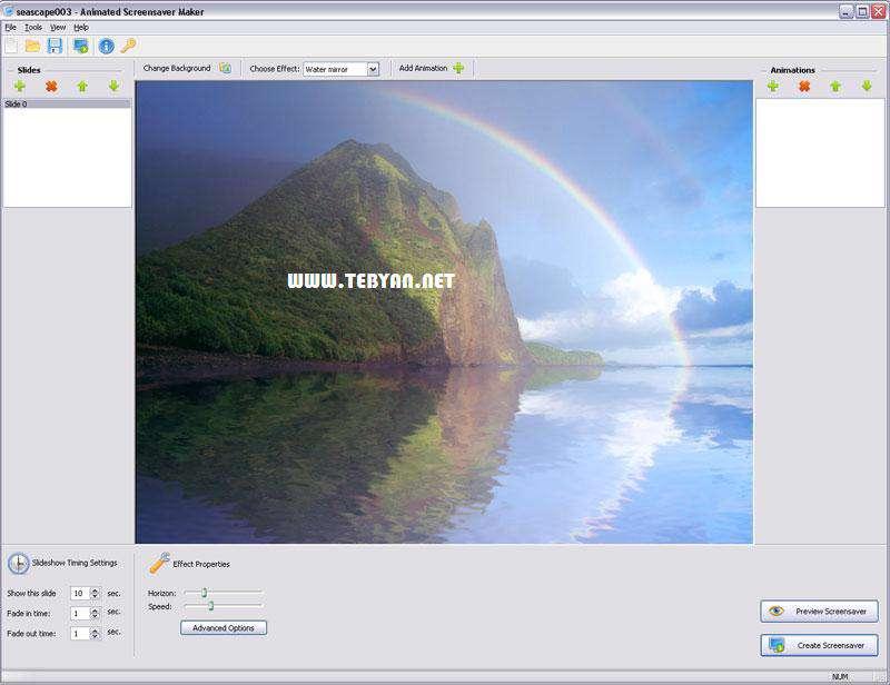 طراحی و ایجاد محافظ صفحه نمایش، Animated Screensaver Maker 3.1.1