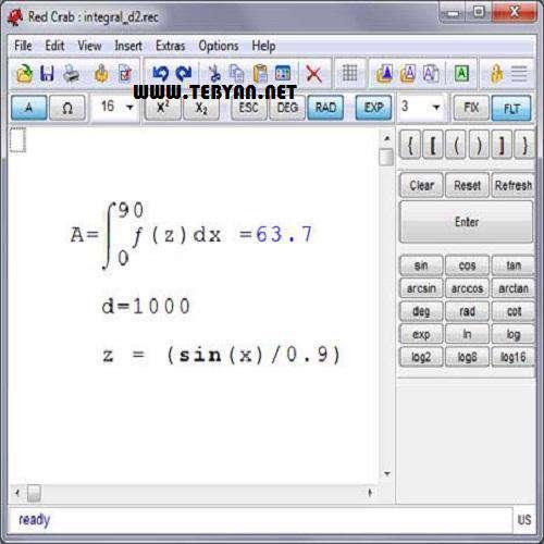 ماشین حساب حرفه ای، RedCrab Calculator 4.14.00